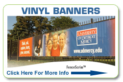 FULL 4 COLOR VINYL BANNERS